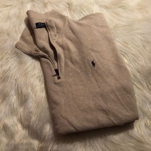 Polo zipup sweater